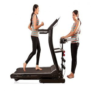 Motorized Treadmill WH 6008D Black massager 3.0 HP